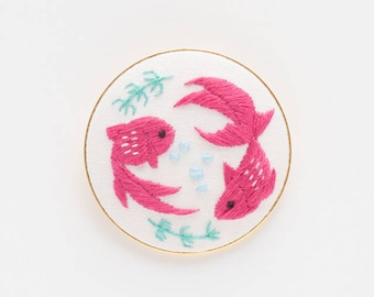 Goldfish - Embroidery Brooch Kit