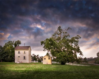 Landscape Photography, Shaker Decor, Pleasant Hill, Kentucky Photo, Dramatic Landscape, Rustic Wall Decor, Farmhouse Art, Fine Art Photo