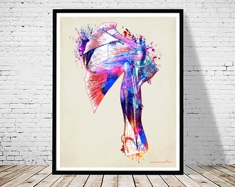 "Watercolor Shoulder, 11"" x 14"", Fine Art Print, Osteopathic Nurse Practitioner gift, Chiropractor art, Orthopedic Surgeon, Shoulder anatomy"