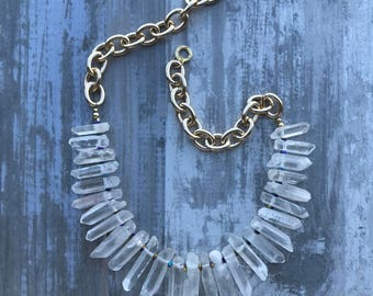 FROZEN QUARTZ NECKLACE