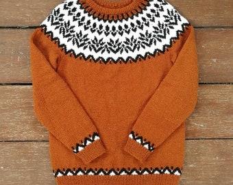 Icelandic sweater. Lopapeysa. Fair isle sweater. Ready to ship.