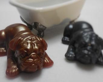 Bulldog Soap - Handmade Decorative Soap - Moisturizing Glycerin Soap - Cocoa Butter - Party Favor Animal Soap - Kids Gift Soap - Dog Soap