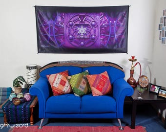 LIGHT WIZARD -  Metatron - Wall Hanging - Tapestry - Banner - Visionary Art - Fabric - Photograph - Print - Spiritual - Sacred Geometry -