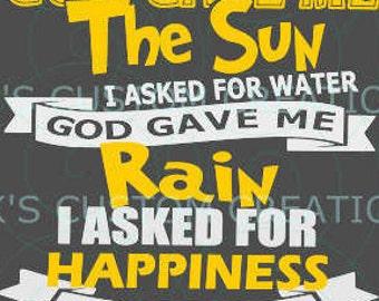 I Asked for Light - God Gave Me
