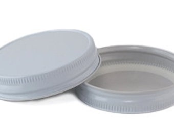 12 pcs White Mason Jar Lid for Regular Mouth Mason Jars- BPA Free, Plastisol Lined