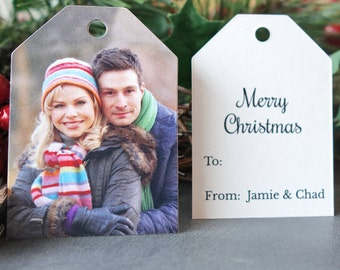 Christmas Gift Tags with Photo and Message (Ticket Tags)