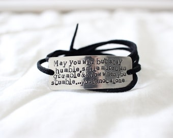 quote bracelet, inspirational jewelry, inspirational bracelet, wrap bracelet, custom bracelet, quote jewelry, graduation gift, birthday gift