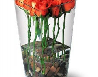 Orange Roses with River Rocks. LOCAL DELIVERY to: 33160, 33180, 33162, 33179, 33004, 33009, 33154, 33019, 33020, 33021