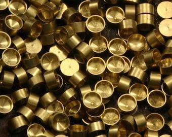 450 PCS Raw Brass 3 mm Pendant finding Setting