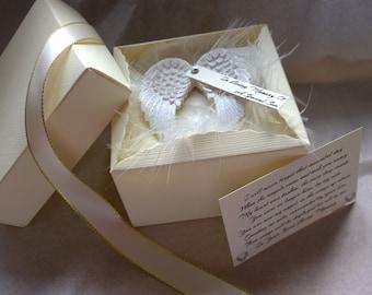 In Loving Memory Of - Personalised *New Guardian Angel Wings* - Bereavement Gift
