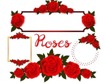 lotus flower clip art lotus flowers lotus clipart lotus rh etsy com roses clip art line roses cliparts free