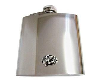 Alligator 6 oz. Stainless Steel Flask