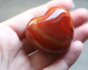 Carnelian Large Puffy Shaped Heart #87838