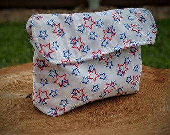Reusable snack bag  reusable lunch bag  Reusable food bag  Reusable sandwich bag