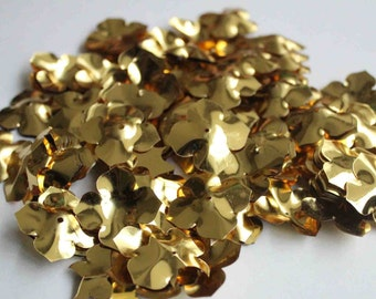 25 pcs Shiny Golden Color Flower Sequins/KBBF482