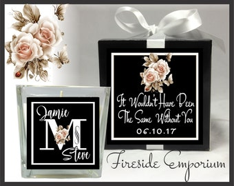 PERSONALIZED Thank You Candle, Customer Appreciation Gift, Anniversary Wedding Favor, Hostess Employee Volunteer Appreciation, Volunteer