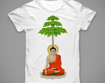 Monk and Tree T-shirt