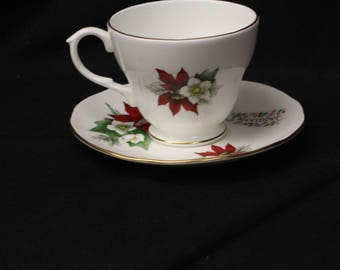 Royal Winchester Made in England Bone China December Cup and Saucer