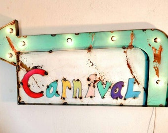 CARNIVAL marquee Sign - circus marquee - bar decor - custom signs available