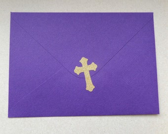 36 gold glitter cross stickers, christening envelope seal, baby baptism  decoration, church, religious stickers