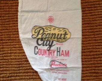 Peanut City Brand Country Ham Cotton Sack Pillow Cover
