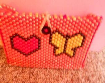 Beaded Butterfly purse