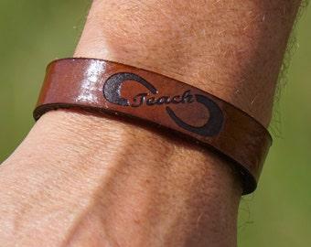 Leather infinity (Teach) bracelet