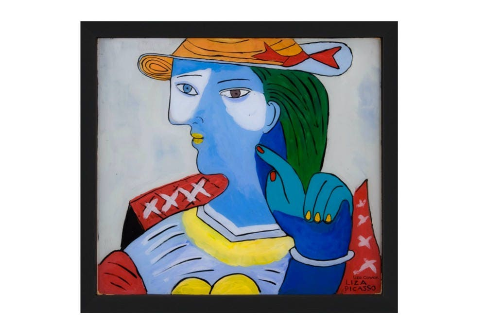 Liza Picasso portrait of Marie Therese. Framed print in two sizes ...
