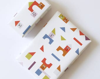 Wrapping Paper  - Building Blocks - for kids - 4 SHEETS A2