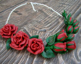 Necklace Rose Red roses Beautiful roses