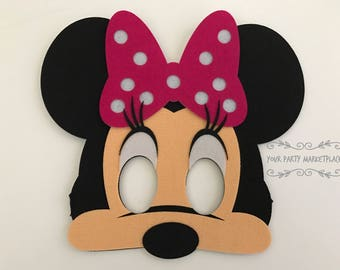 Minnie Mouse Party Favors, Mickey Mouse Clubhouse Party Favors, Minnie Mouse Party, Minnie Mouse Birthday, Minnie Mouse Mask, Minnie Mouse