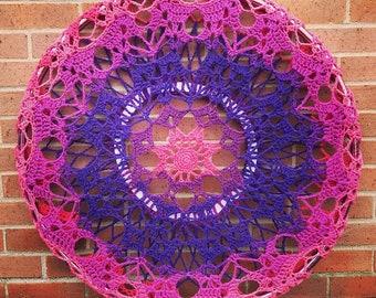 Crochet Sugarwheel Snowflake Hoop Mandala