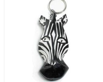 Zebra Head Keychain