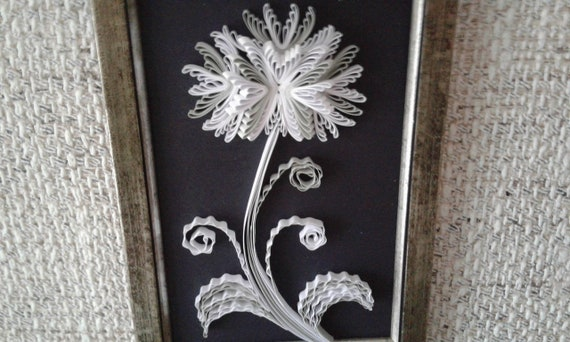 Black and white abstract quilling art wall art picture