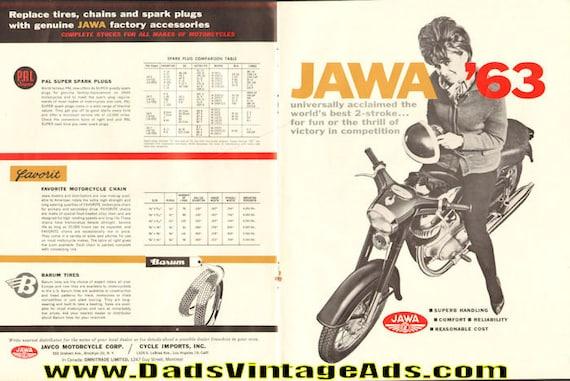 1963 Jawa Motorcycles 4-Page Ad #6305amot05