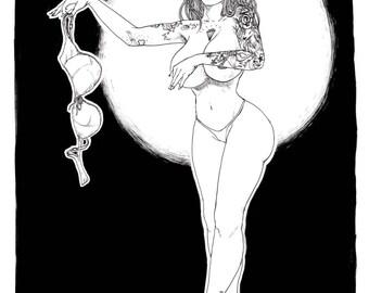 Burlesque - François Amoretti - Violette #3 - A4 print