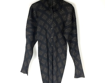 PLEATS PLEASE issey miyake Check pattern pleated shirt tops