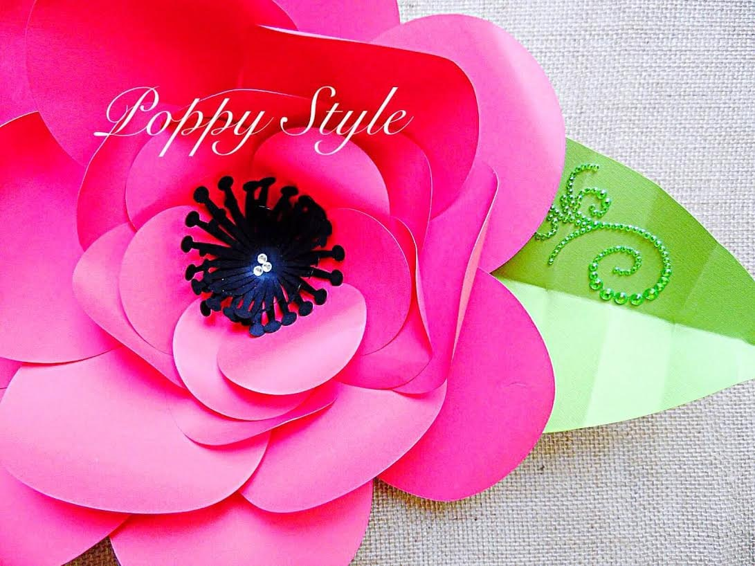 Diy Large Backdrop Paper Flowers Paper Flower Templates Tutorial