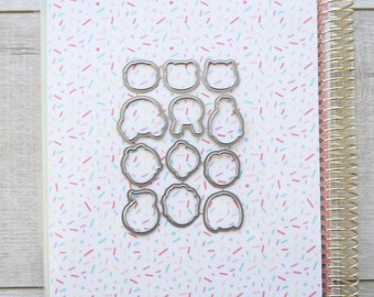 ADD-003 DIES Expressions - Steel Dies Made in the USA Planner Stamps - planner stamp, floral border, heart frame, mail stamp