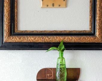 Fibonacci Golden Spiral Decorative Wall Shelf / Dorm Room Decoration / Plant Shelf / Display Shelf / Small Wall Shelf / Gifts for mom