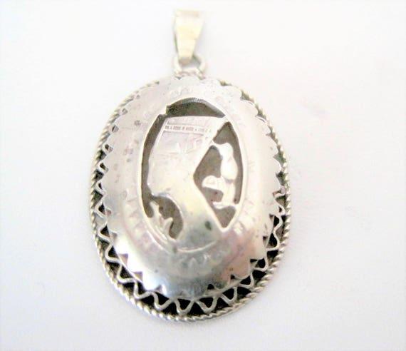 Nefertiti Pendant, 800 Silver Pendant,  Egyptian Revival,  European Jewelry