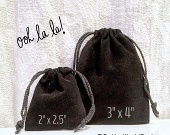 """SHIPPING 4-27 -  Velveteen Drawstring Bag, Velvet Coin Pouch, Gift Bag, Crystal Pouch, Dice Bag, 2 x 2.5"""" and 3 x 4"""" available, BULK TOO"""