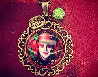 Mad Hatter bronze pendant