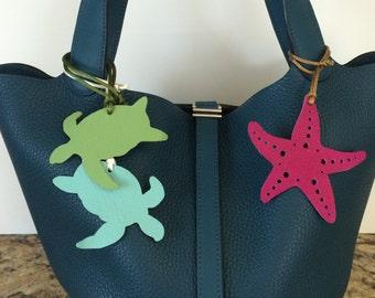 Leather Sea Turtles on Silk or Nylon Cord