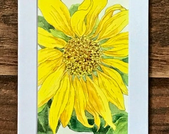 Sunflower, close-up, art print