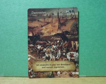 Damnation Full Altered Custom Artwork Proxy/Play Test Token Card