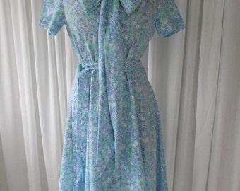 Vintage Floral Day Dress 1960's  #20006