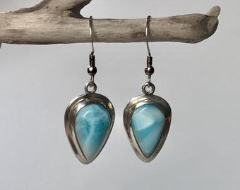 Vibrant Larimar Earrings
