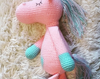 knitted unicorn handmade toys for children wool toys pink unicorn gift for children unicorn crochet knitted toy amigurumi uncorns kids