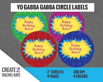 Yo Gabba Gabba DIY Custom Birthday Party Logo Sign Personalized Editable PDF